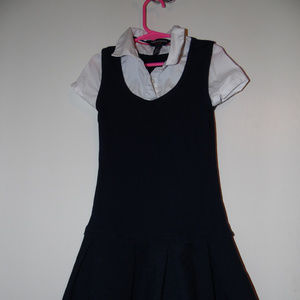 French Toast Girls 2-in-1 Uniform Romper Size 7